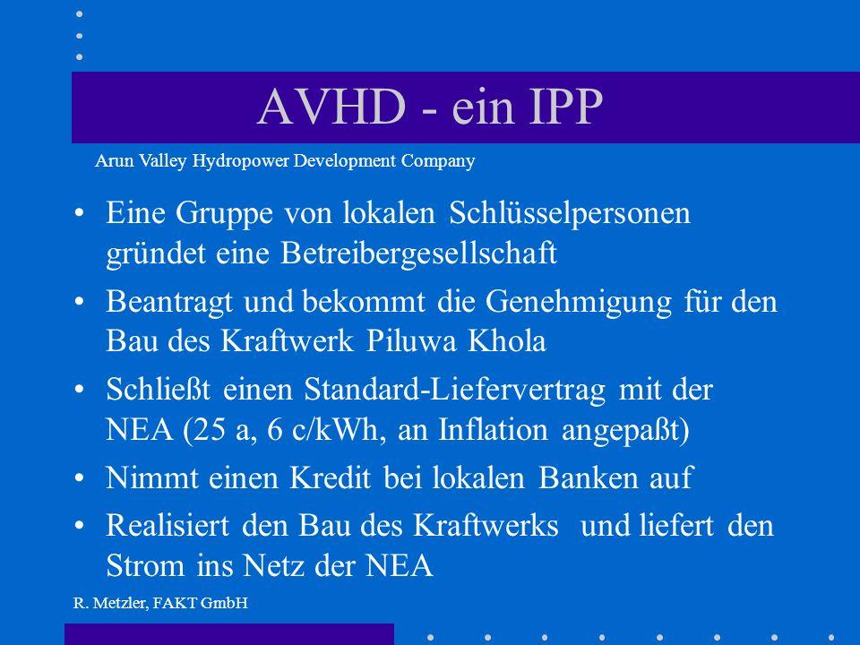 R. Metzler, FAKT GmbH NEA braucht Strom im Netz Welche Möglichkeiten hat sie? Kapital aufnehmen darf sie nicht, sie ist schon hoch verschuldet Effizie