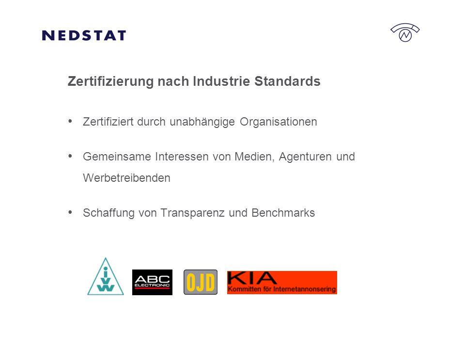 Zertifizierung nach Industrie Standards Zertifiziert durch unabhängige Organisationen Gemeinsame Interessen von Medien, Agenturen und Werbetreibenden Schaffung von Transparenz und Benchmarks