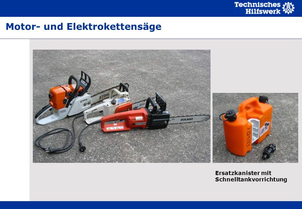 Ersatzkanister mit Schnelltankvorrichtung Motor- und Elektrokettensäge