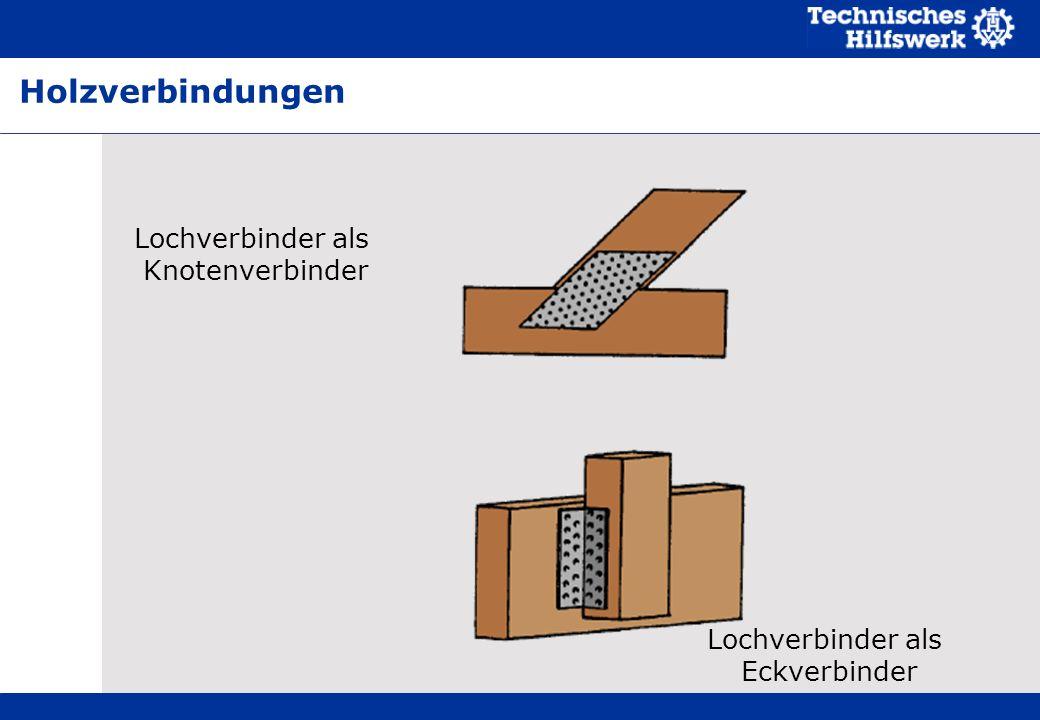 Lochverbinder als Eckverbinder Lochverbinder als Knotenverbinder Holzverbindungen