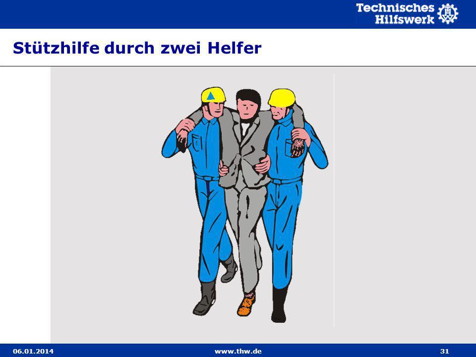 06.01.2014www.thw.de31 Stützhilfe durch zwei Helfer