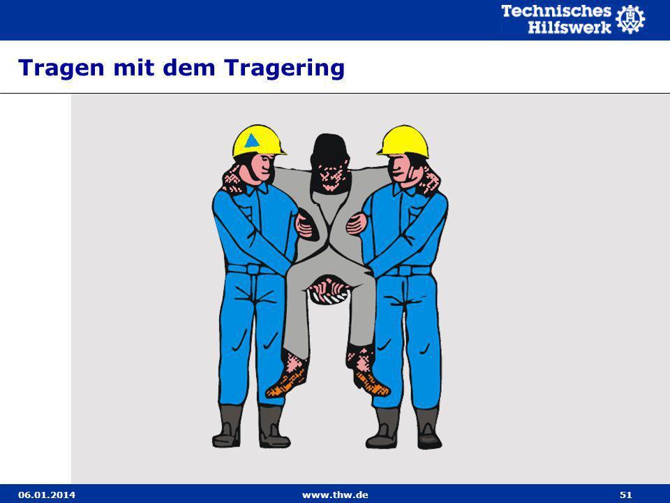 06.01.2014www.thw.de51 Tragen mit dem Tragering