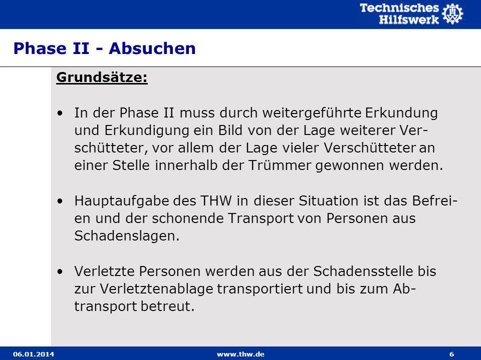 06.01.2014www.thw.de107 Transport eines im Bergetuch sitzenden Verletzten