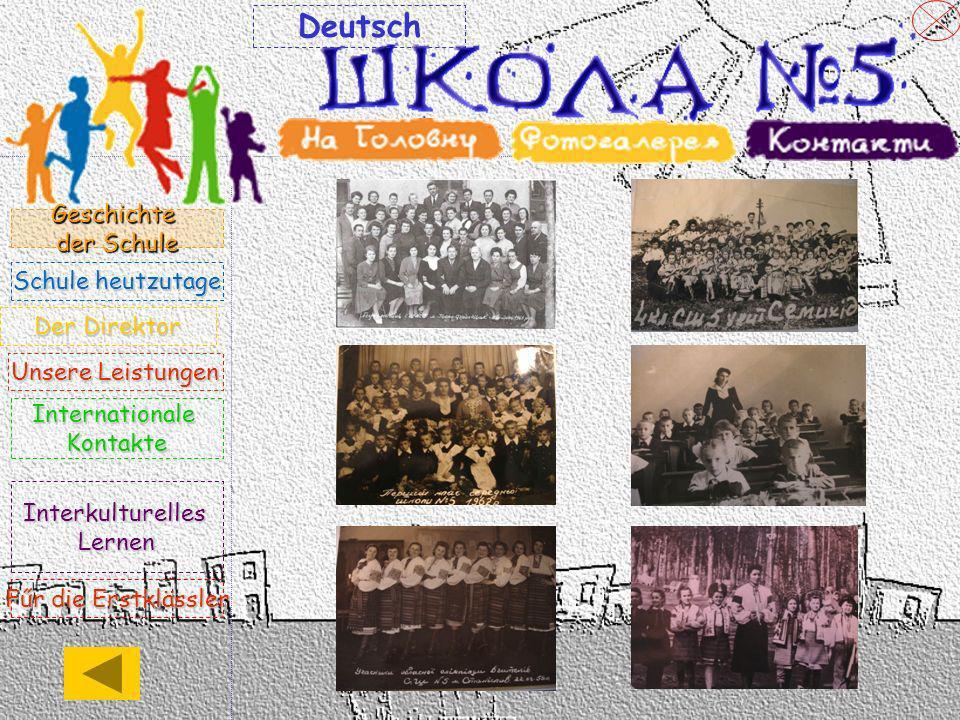 Der Direktor der Schule 5 mit erweitertem Deutsch- unterricht,Jaroslaw Oleksyn, ist schon 16 Jahre der Leiter des Lehrerkollegiums.