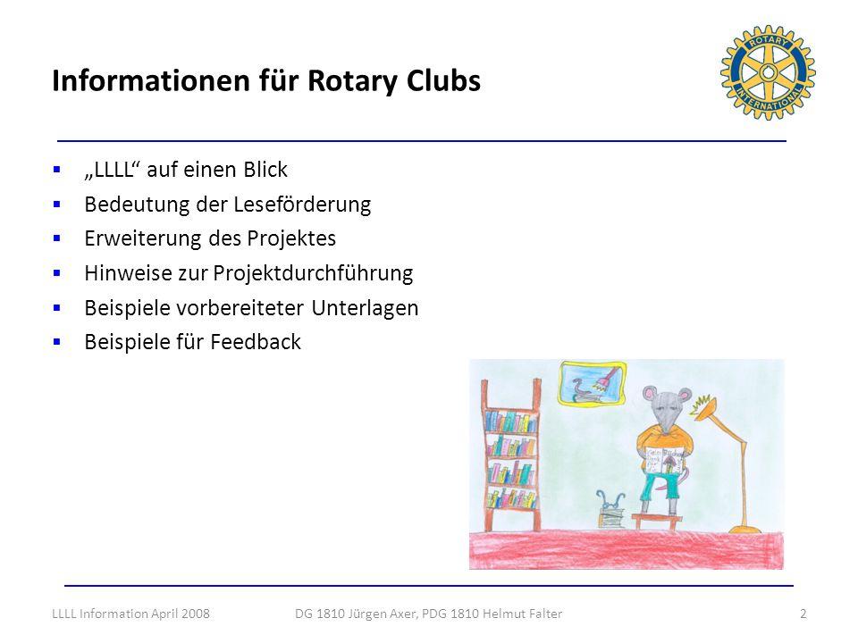 Viele Clubs haben aktiv Inner Wheel und Rotarct eingebunden und waren damit besonders erfolgreich.