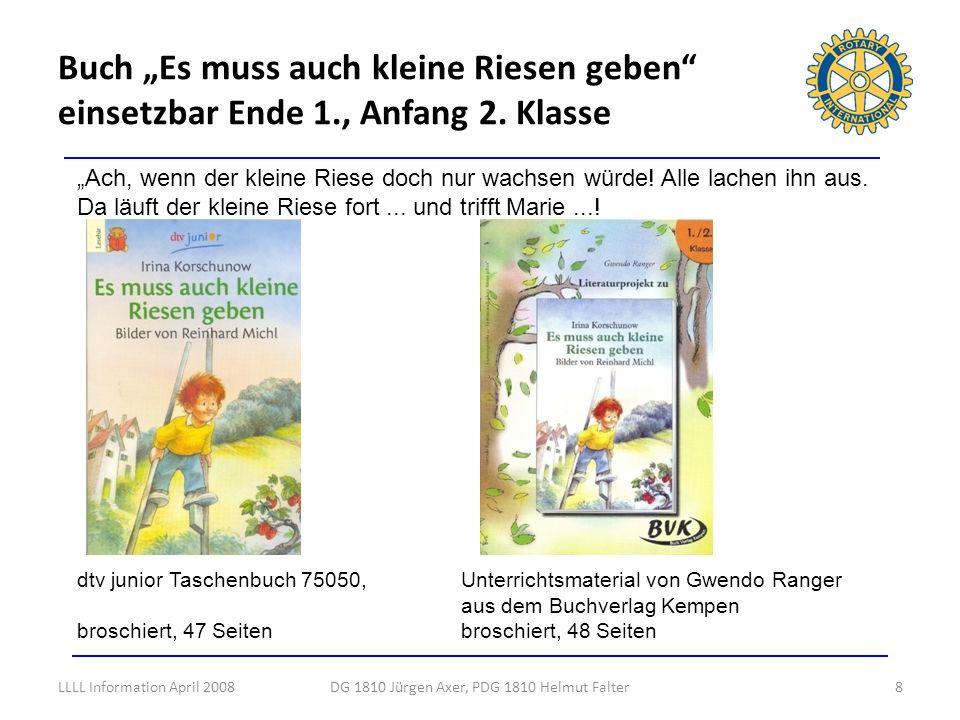 Buch Es muss auch kleine Riesen geben einsetzbar Ende 1., Anfang 2. Klasse 8DG 1810 Jürgen Axer, PDG 1810 Helmut Falter Ach, wenn der kleine Riese doc
