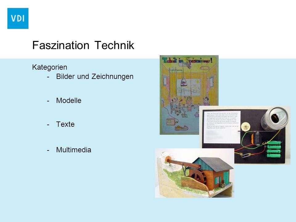 Faszination Technik Kategorien -Bilder und Zeichnungen -Modelle -Texte -Multimedia