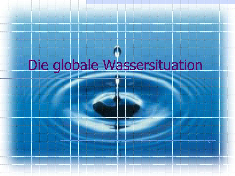 Die globale Wassersituation