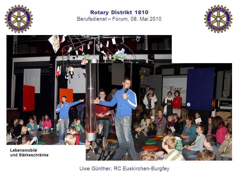 Rotary Distrikt 1810 Berufsdienst – Forum, 08. Mai 2010 Uwe Günther, RC Euskirchen-Burgfey Lebensmobilé und Stärkeschränke