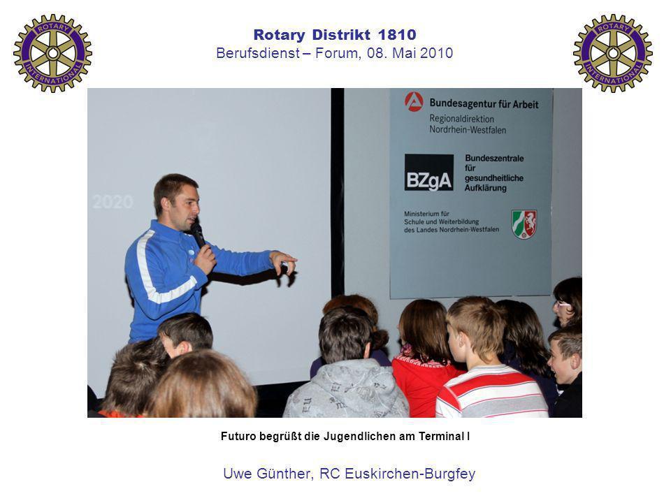 Rotary Distrikt 1810 Berufsdienst – Forum, 08. Mai 2010 Uwe Günther, RC Euskirchen-Burgfey