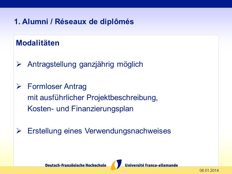 06.01.2014 1.Alumni / Réseaux de diplômés 1.2.