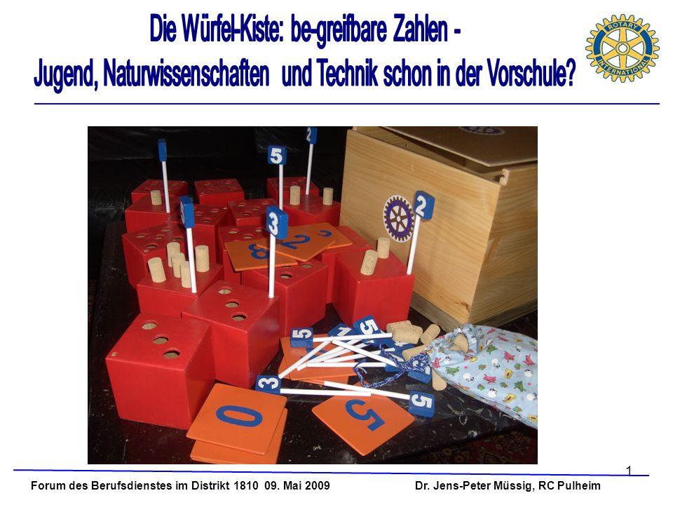 1 Forum des Berufsdienstes im Distrikt 1810 09. Mai 2009 Dr. Jens-Peter Müssig, RC Pulheim