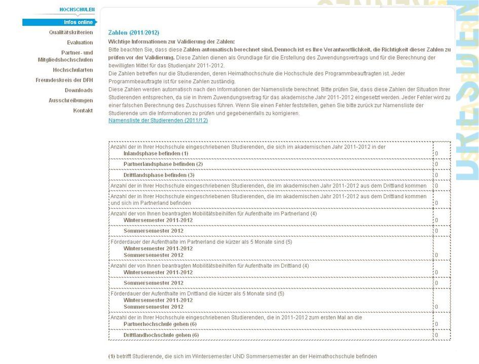 www.dfh-ufa.org 16 Namensliste der Studierenden und Zahlen