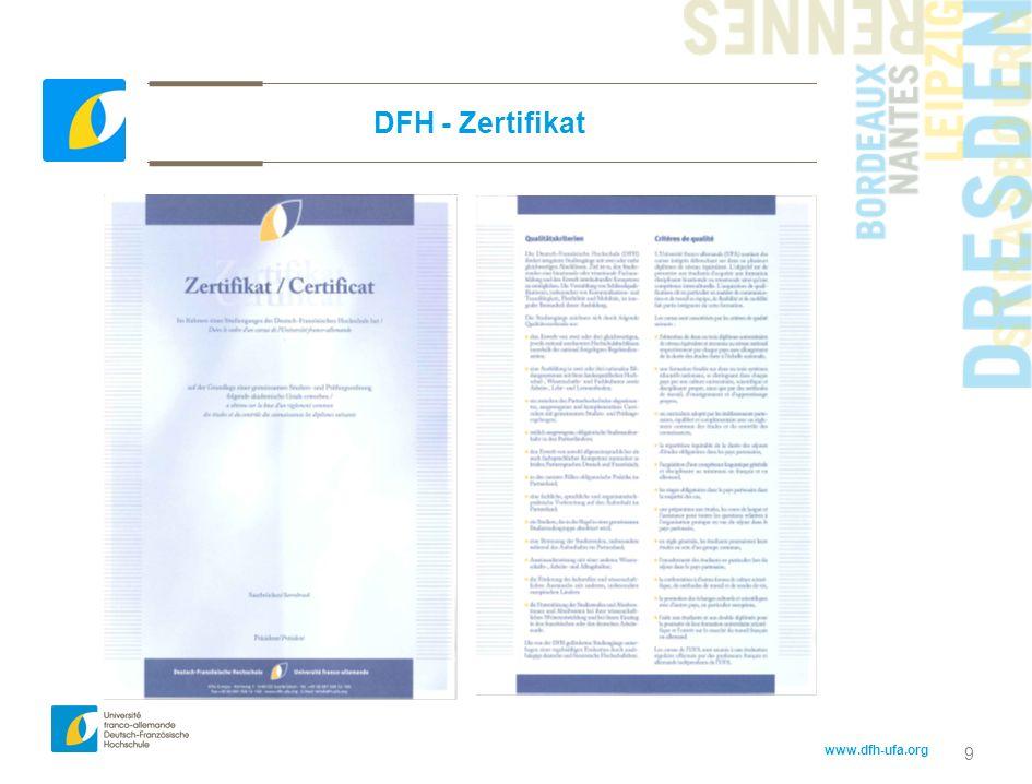 www.dfh-ufa.org 20 Finanzierungsrichtlinien 2011-2012 3.