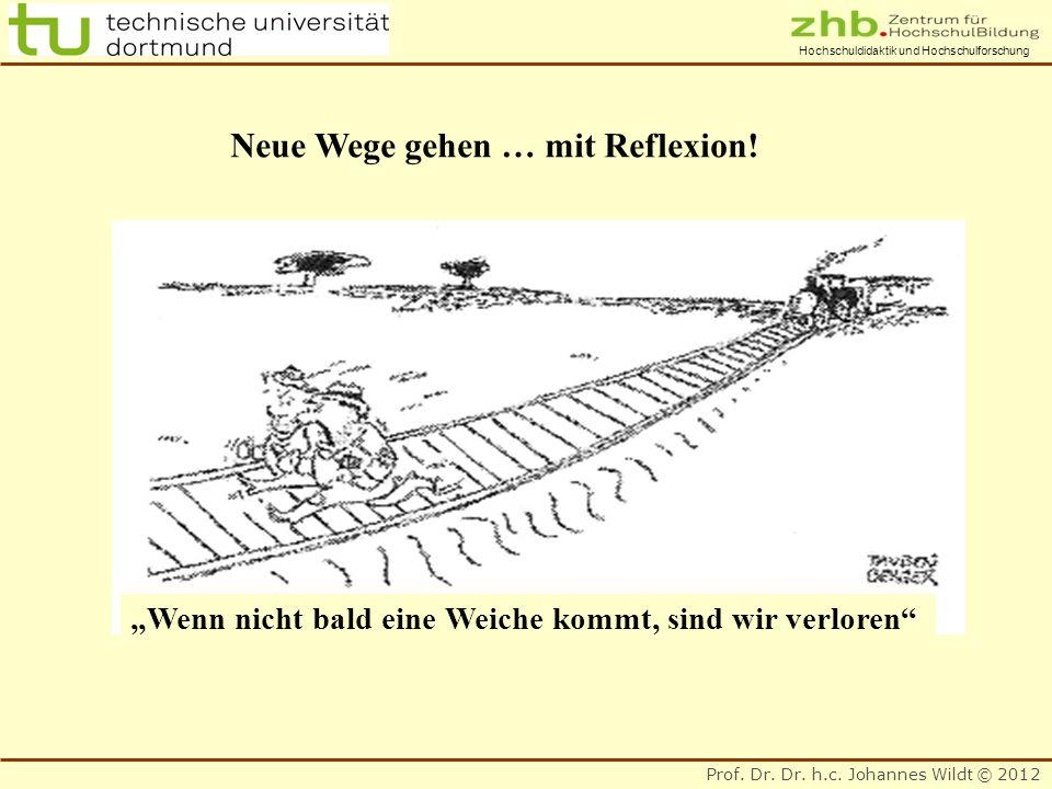 Prof. Dr. Dr. h.c. Johannes Wildt © 2012 Hochschuldidaktik und Hochschulforschung Neue Wege gehen … mit Reflexion! Wenn nicht bald eine Weiche kommt,