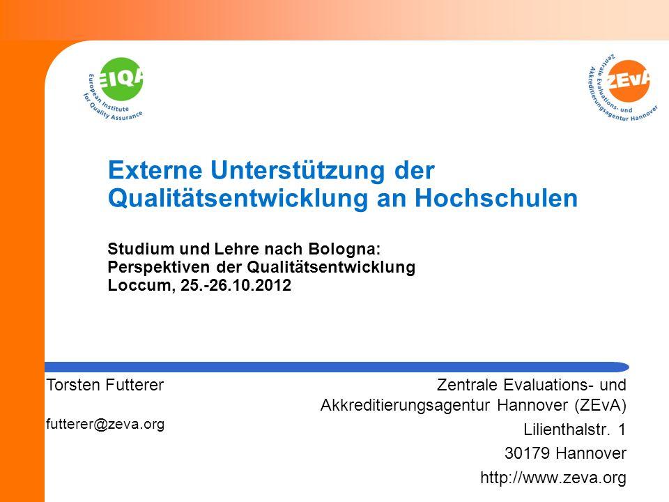 12 Externe Unterstützung der Qualitätsentwicklung Verknüpfung von Evaluation und Beratung: Herausforderungen Zusammenspiel und Abgrenzungen Unterstützung oder Beurteilung.