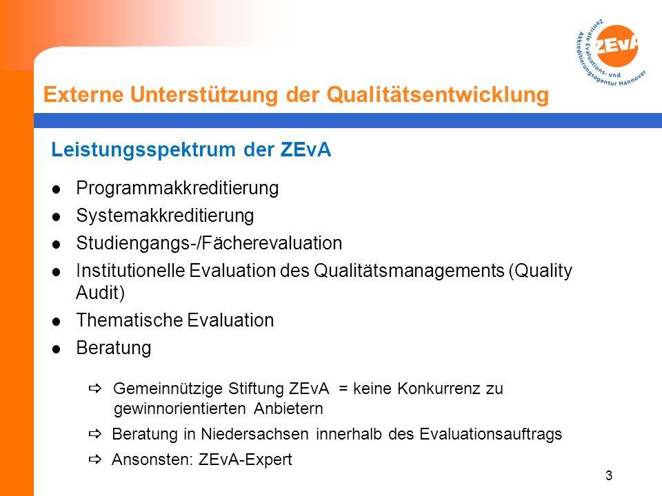 4 Externe Unterstützung der Qualitätsentwicklung Entwicklung der Evaluation: Verschiebung des Fokus Fächerevaluation Institutionelle Evaluation Thematische Evaluation Thematische Evaluation mit Beratung / Beratung mit Evaluation