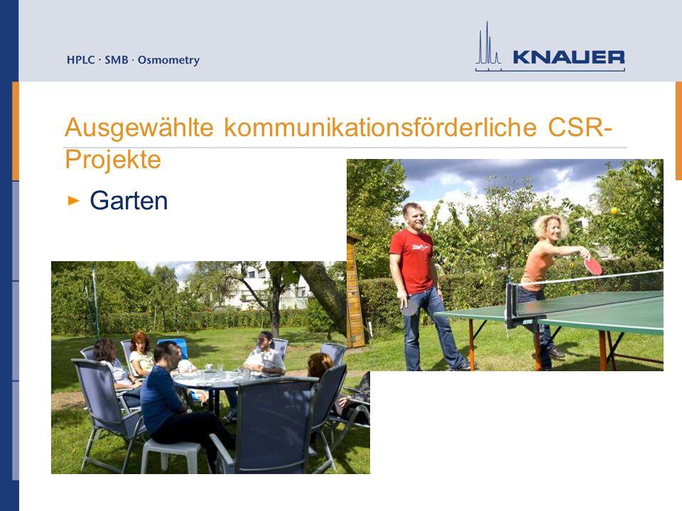 Ausgewählte kommunikationsförderliche CSR- Projekte Garten
