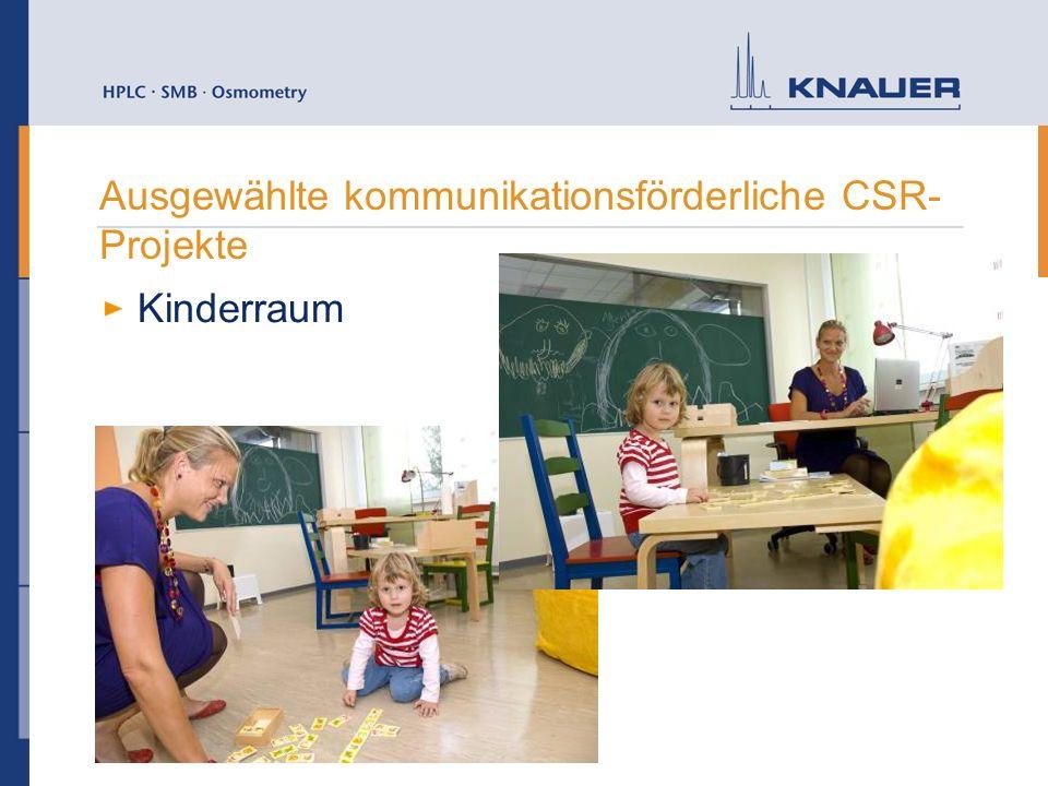Ausgewählte kommunikationsförderliche CSR- Projekte Kinderraum