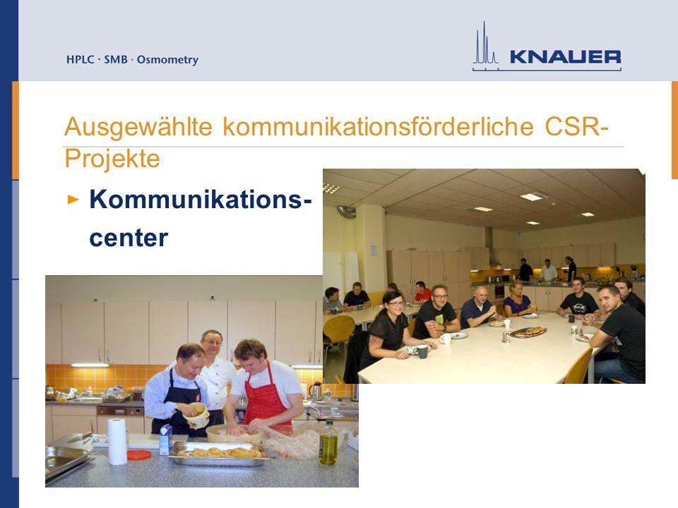 Ausgewählte kommunikationsförderliche CSR- Projekte Kommunikations- center