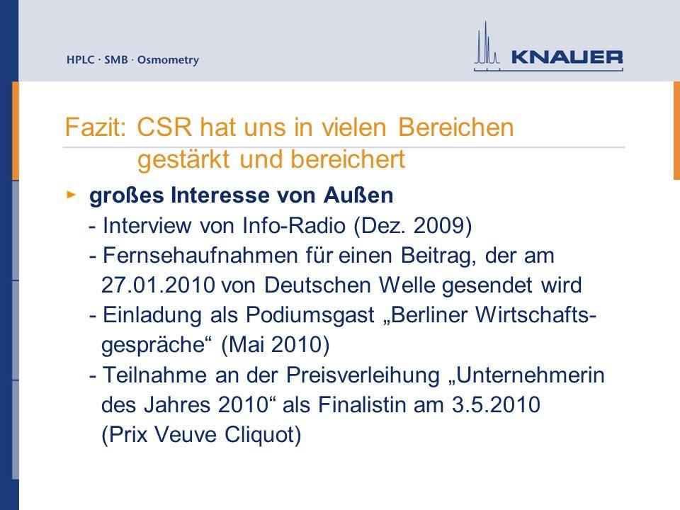 großes Interesse von Außen - Interview von Info-Radio (Dez. 2009) - Fernsehaufnahmen für einen Beitrag, der am 27.01.2010 von Deutschen Welle gesendet