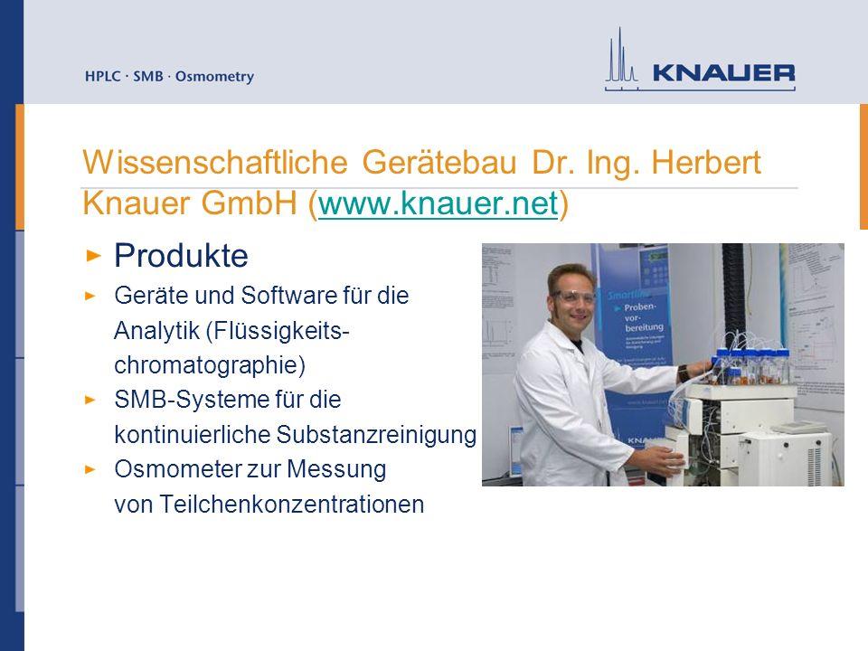 Wissenschaftliche Gerätebau Dr. Ing. Herbert Knauer GmbH (www.knauer.net)www.knauer.net Produkte Geräte und Software für die Analytik (Flüssigkeits- c
