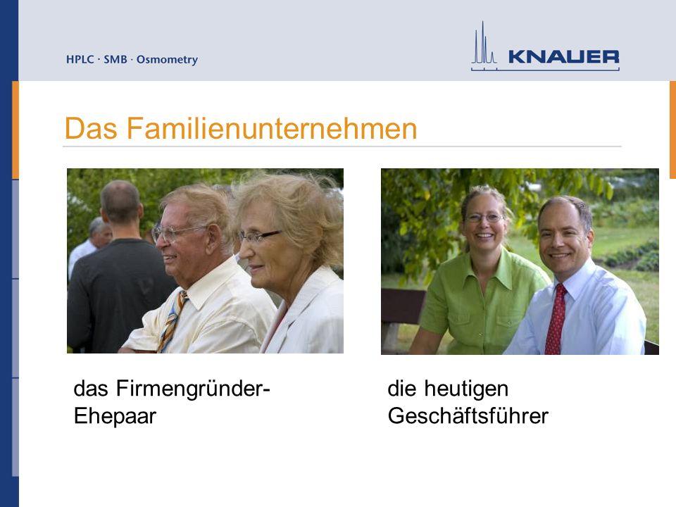 Das Familienunternehmen das Firmengründer- Ehepaar die heutigen Geschäftsführer