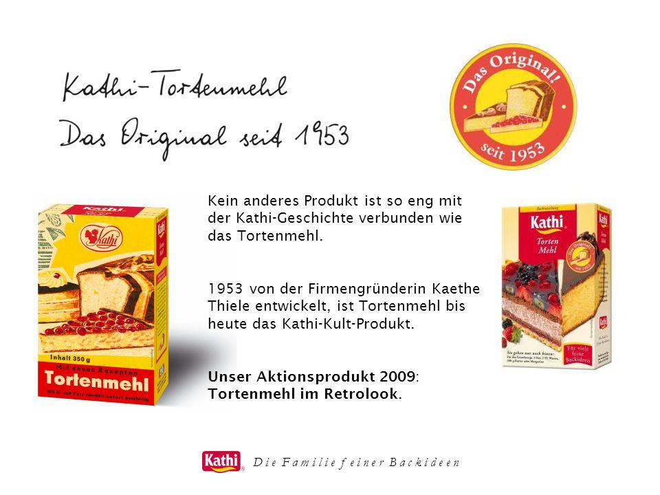 Kein anderes Produkt ist so eng mit der Kathi-Geschichte verbunden wie das Tortenmehl. 1953 von der Firmengründerin Kaethe Thiele entwickelt, ist Tort