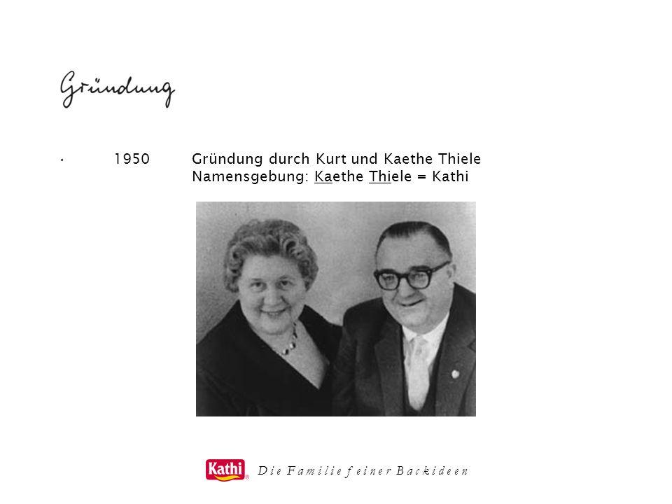 1950Gründung durch Kurt und Kaethe Thiele Namensgebung: Kaethe Thiele = Kathi