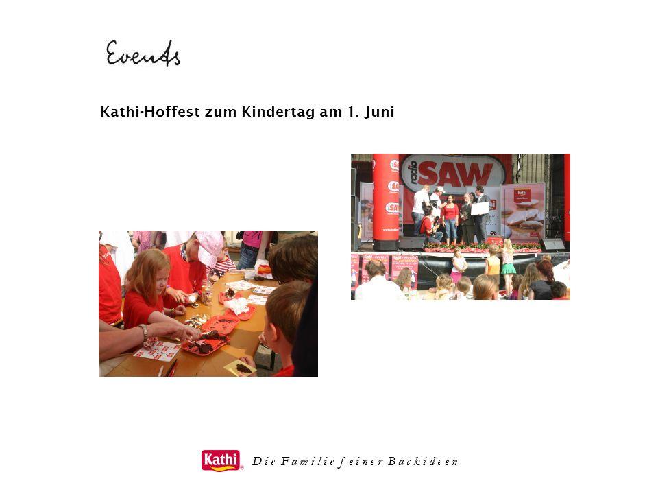 D i e F a m i l i e f e i n e r B a c k i d e e n Kathi-Hoffest zum Kindertag am 1. Juni