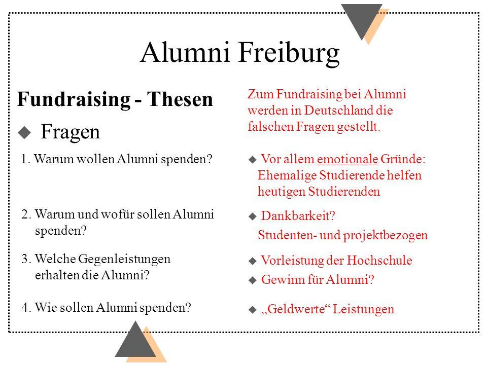 Fundraising - Thesen Zum Fundraising bei Alumni werden in Deutschland die falschen Fragen gestellt. u Vor allem emotionale Gründe: Ehemalige Studieren