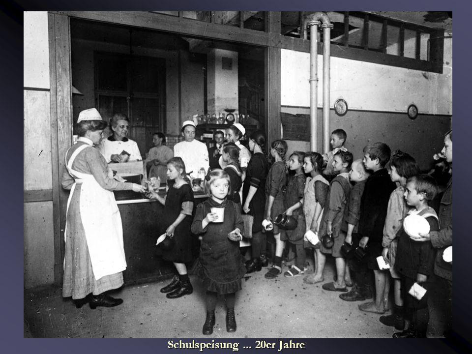 Schulleben... Lebensschule Schulspeisung... 20er Jahre