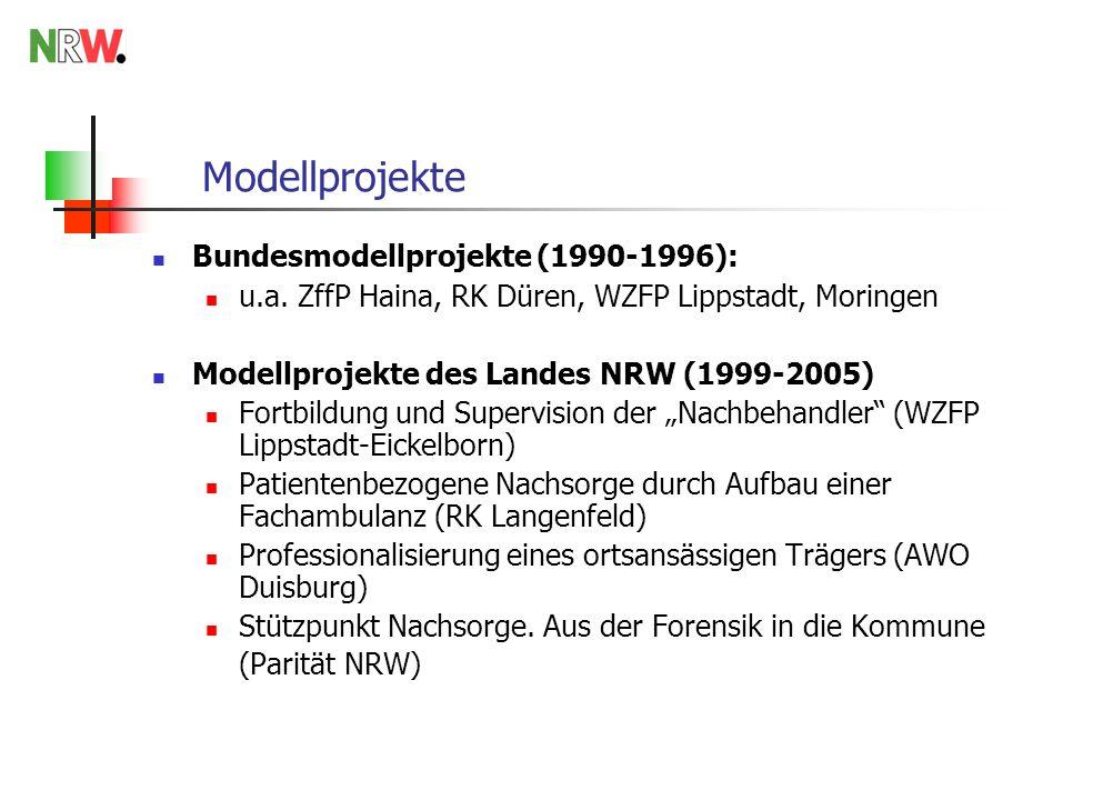Modellprojekte Bundesmodellprojekte (1990-1996): u.a.