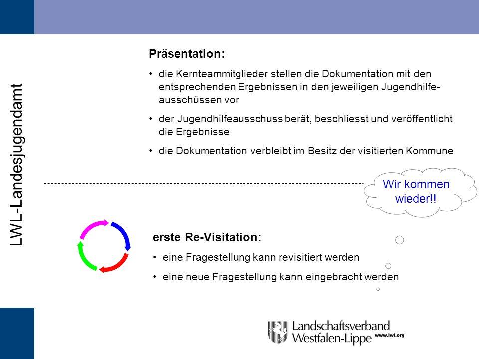 LWL-Landesjugendamt Auswertung: die Subteams treffen sich zur Auswertung der Informationen sowie zur Festlegung der Empfehl- ungen und zur Erstellung