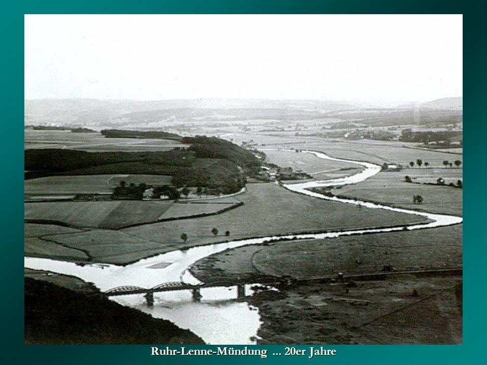 Ruhr-Lenne-Mündung... 20er Jahre