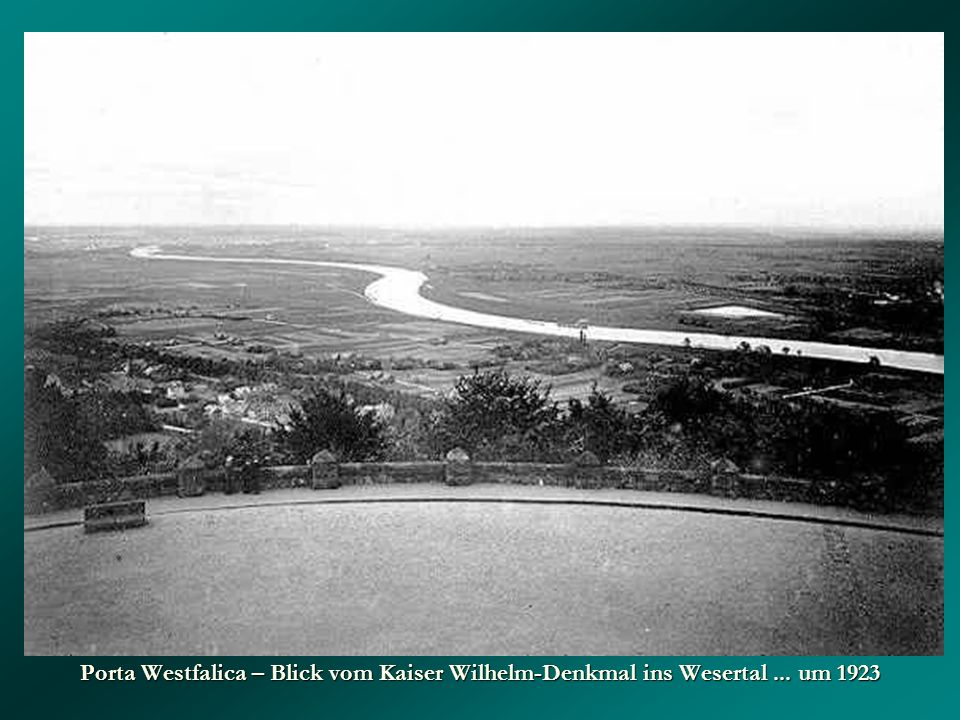 Porta Westfalica – Blick vom Kaiser Wilhelm-Denkmal ins Wesertal... um 1923