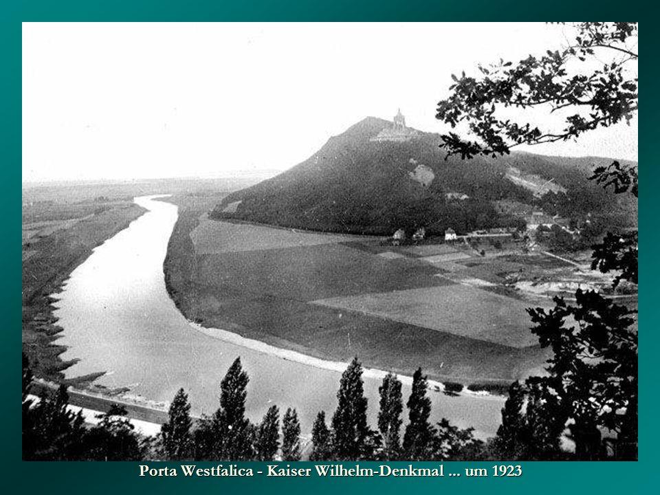 ... und 1959 Porta Westfalica mit Kaiser Wilhelm-Denkmal