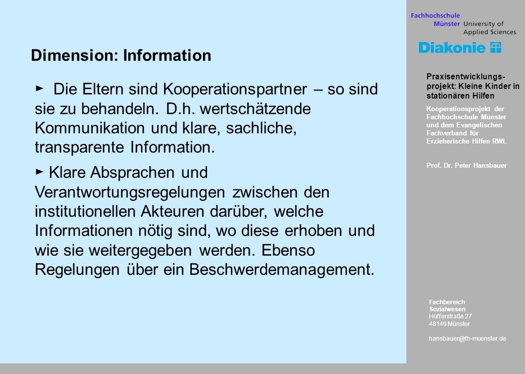 Fachbereich Sozialwesen Hüfferstraße 27 48149 Münster hansbauer@fh-muenster.de Praxisentwicklungs- projekt: Kleine Kinder in stationären Hilfen Kooper