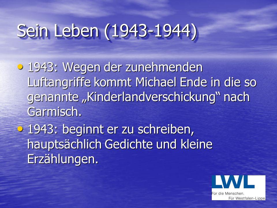 Sein Leben (1929 bis 1941) 1929: Geboren am 12.November in Garmisch-Partenkirchen 1929: Geboren am 12.November in Garmisch-Partenkirchen Vater: Edgar