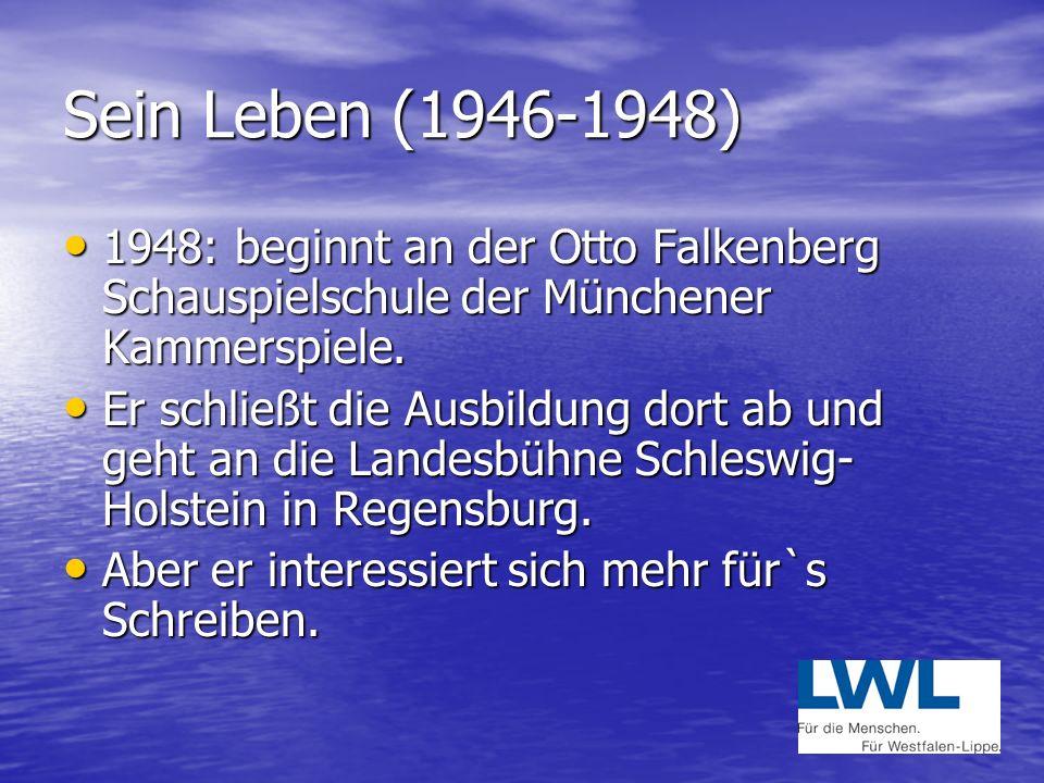 Sein Leben (1943-1944) 1943: Wegen der zunehmenden Luftangriffe kommt Michael Ende in die so genannte Kinderlandverschickung nach Garmisch. 1943: Wege