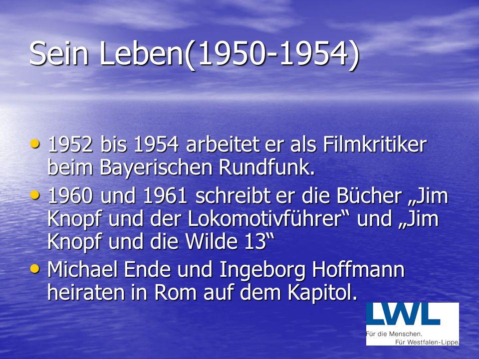 Sein Leben (1946-1948) 1948: beginnt an der Otto Falkenberg Schauspielschule der Münchener Kammerspiele. 1948: beginnt an der Otto Falkenberg Schauspi