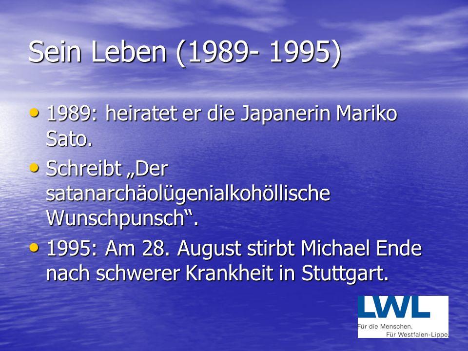 Sein Leben (1976-1985) 1976: Entsteht das Gaukler –Märchen, ein Zauberspiel für Puppen- und Maskentheater. 1976: Entsteht das Gaukler –Märchen, ein Za