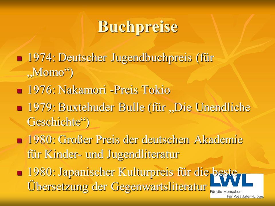 Buchpreise 1960: Literaturpreis der Stadt Berlin 1960: Literaturpreis der Stadt Berlin 1960: Deutscher Kinderbuchpreis (für Jim Knopf und der Lokomoti