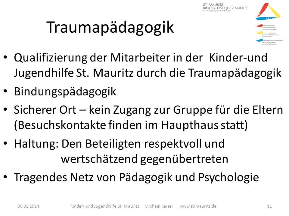 Traumapädagogik Qualifizierung der Mitarbeiter in der Kinder-und Jugendhilfe St. Mauritz durch die Traumapädagogik Bindungspädagogik Sicherer Ort – ke