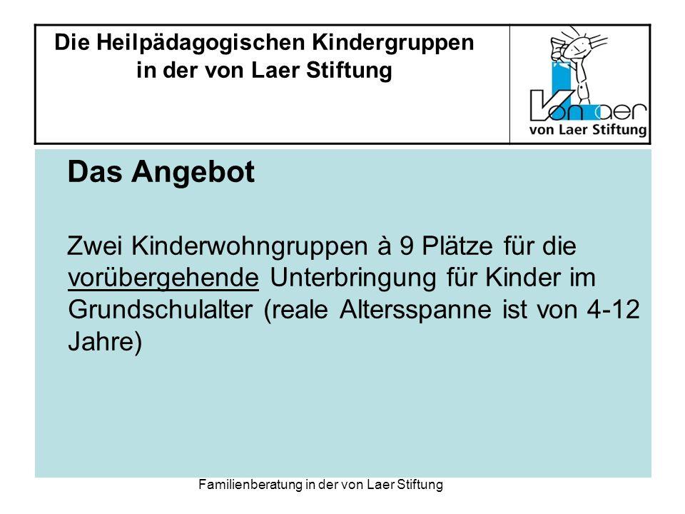 Familienberatung in der von Laer Stiftung Elternverantwortung vs.