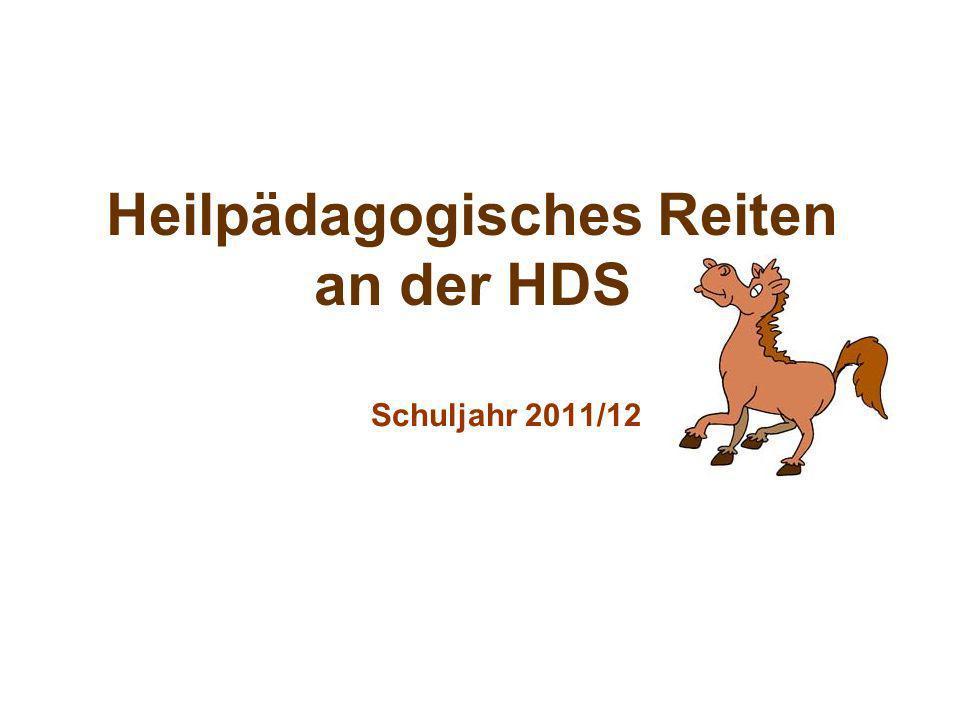 Heilpädagogisches Reiten an der HDS Schuljahr 2011/12