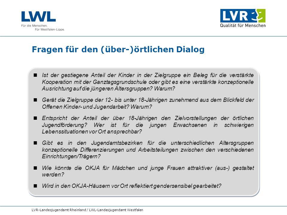 Fragen für den (über-)örtlichen Dialog LVR-Landesjugendamt Rheinland / LWL-Landesjugendamt Westfalen Ist der gestiegene Anteil der Kinder in der Zielg