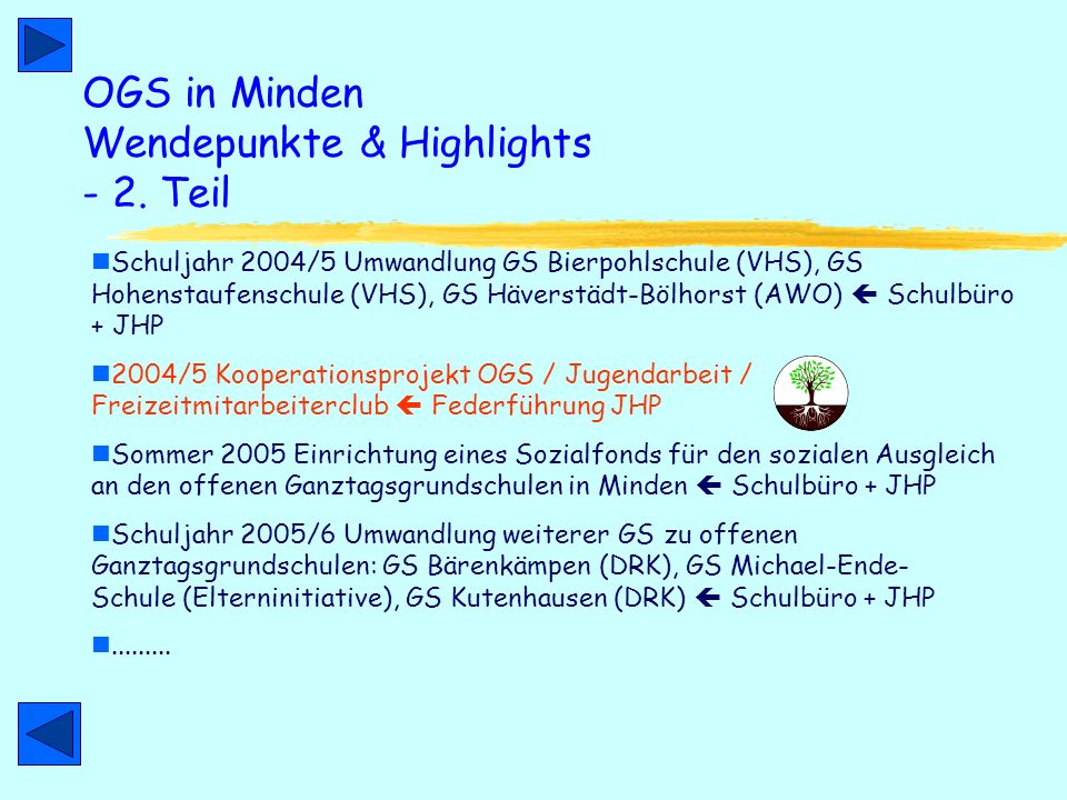 OGS in Minden Wendepunkte & Highlights - 2.