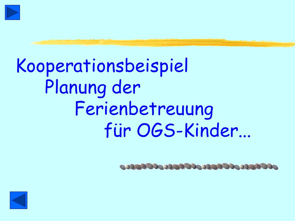OGS in Minden Wendepunkte & Highlights - 2. Teil Schuljahr 2004/5 Umwandlung GS Bierpohlschule (VHS), GS Hohenstaufenschule (VHS), GS Häverstädt-Bölho