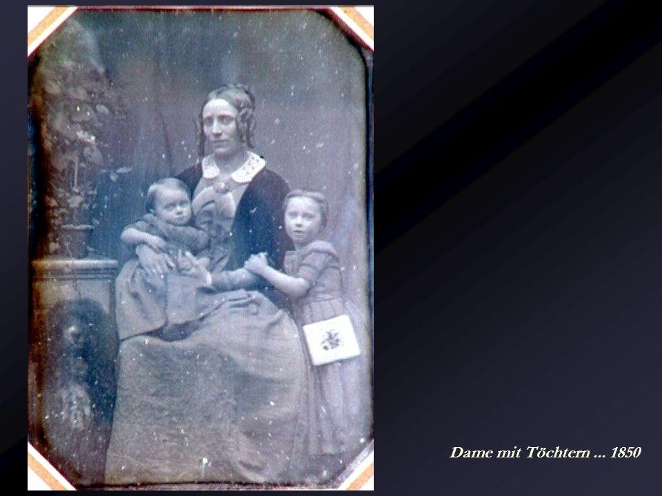 Reisende mit Landschaftsattrappe... um 1850
